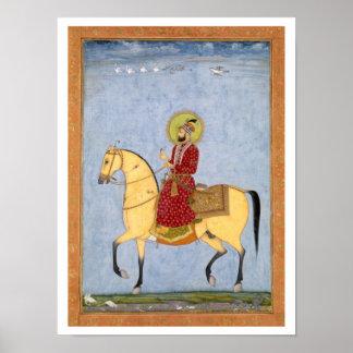 Mughal皇帝Farrukhsiyar (1683-1719年) (r.1713 ポスター