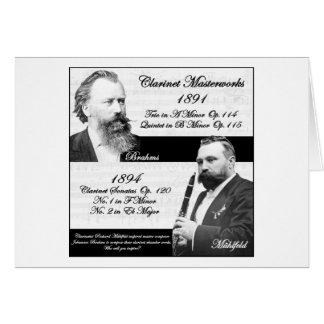 Mühlfeld刺激を受けたなBrahmsクラリネット奏者 カード