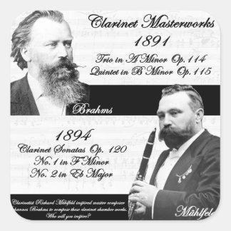 Mühlfeld刺激を受けたなBrahmsクラリネット奏者 スクエアシール