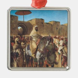 Muley Abd arRhamanのモロッコのサルタン メタルオーナメント