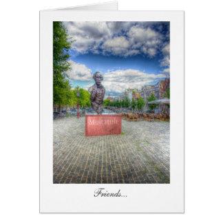 Mulltatuliの彫像、アムステルダム-友人 カード