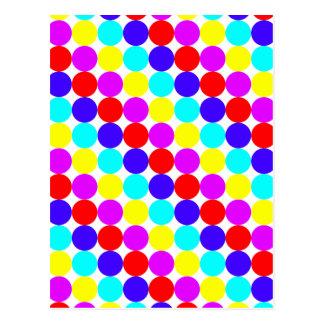 MULTI-DOTS (水玉模様のデザイン)の~ ポストカード