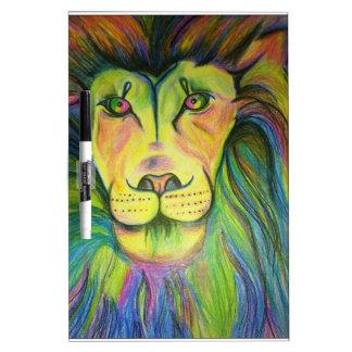 multicoloのライオン ホワイトボード