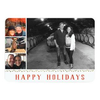 Multiple Photo   4 Image   Happy Holidays Collage カード
