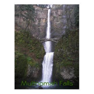Multnomahの滝旅行写真 ポストカード