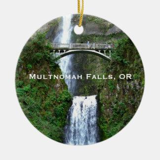 Multnomahの滝、オレゴンの景色のオーナメント セラミックオーナメント