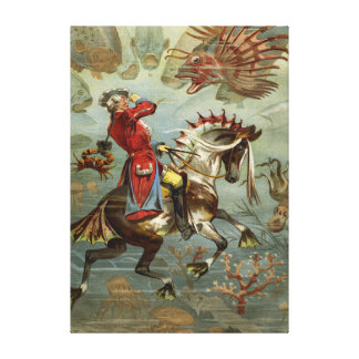 Munchausen Adventuresヴィンテージのドイツの男爵 キャンバスプリント