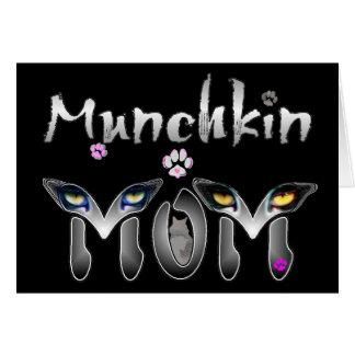 Munchkin猫のお母さんのギフト カード
