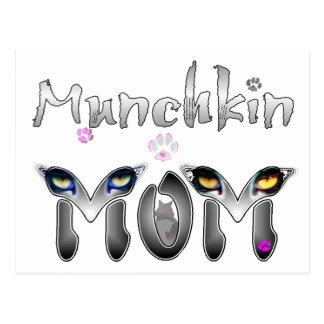 Munchkin猫のお母さんのギフト ポストカード