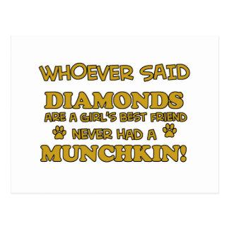 Munchkin猫のデザイン ポストカード