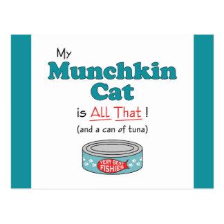 Munchkin私の猫はすべてそれです! おもしろいな子猫 ポストカード