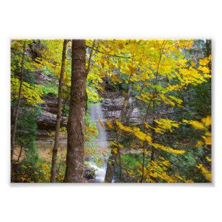 Munisingの滝、ミシガン州 フォトプリント