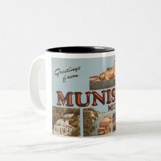 Munisingの郵便はがき ツートーンマグカップ