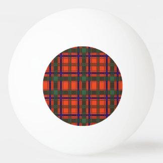 Munroの一族の格子縞のスコットランド人のタータンチェック 卓球ボール
