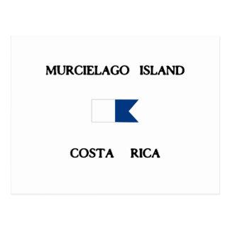Murcielagoの島のコスタリカのアルファ飛び込みの旗 ポストカード