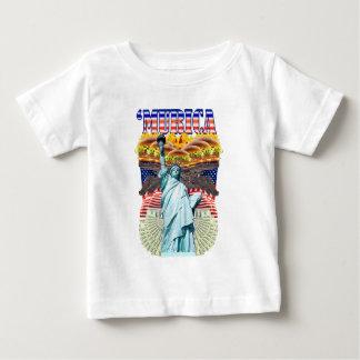 「MURICA! アメリカのプライド、自由のlovinの」フォークは身に着けています ベビーTシャツ