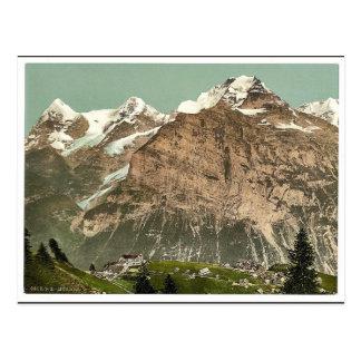 Murren、一般的な見解、Bernese Oberland、Switzerlan ポストカード