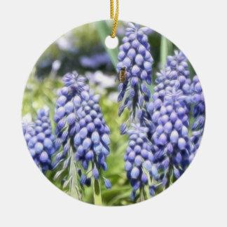 Muscariの花の蜂 セラミックオーナメント