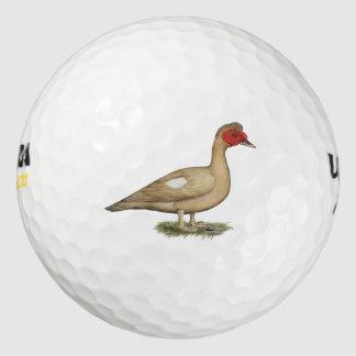 Muscovyの軽いチョコレートドレーク ゴルフボール