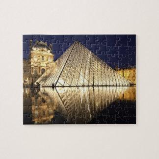 Musee DUのガラスピラミッドの夜眺め ジグソーパズル