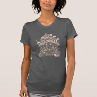 Mushagaeshi Printcolor:Whitepink - Ladies Tシャツ
