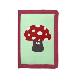 Mushroom氏 ナイロン三つ折りウォレット