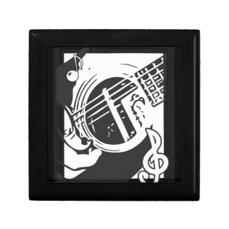 Music Lover Guitar Playing black and white ギフトボックス