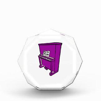 music.pngの壮大な紫色のアップライトピアノ 表彰盾