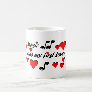Music was my first Love コーヒーマグカップ
