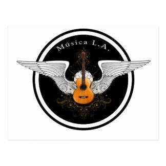 MusicaのLAの音響のロゴ ポストカード