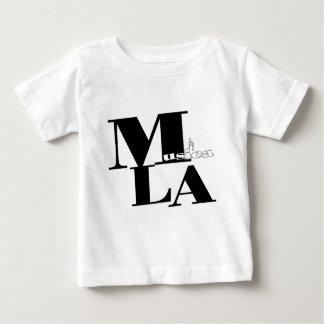Musica L.A. Logo- white.jpg ベビーTシャツ