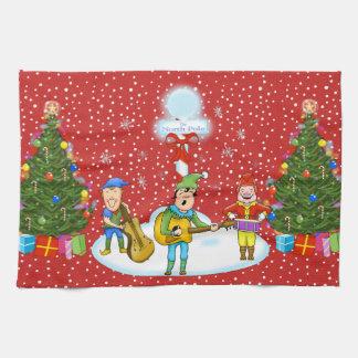 Musician Elf Band Christmas Kitchen Towel キッチンタオル