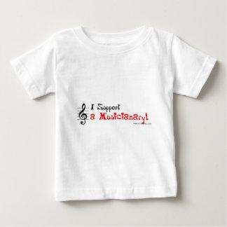 Musicianaryのための熱狂するなサポート ベビーTシャツ