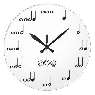 Musicicalのノート ラージ壁時計