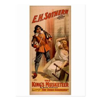 Musketeer王、「3人の近衛兵」のヴィンテージ ポストカード