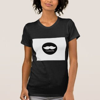 mustache_logo tシャツ