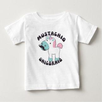 MustachioのUnicornioのベビーのワイシャツ ベビーTシャツ