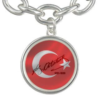 Mustafa Kemal Ataturk チャームブレスレット