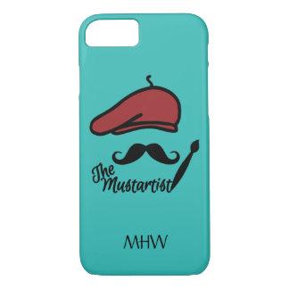 Mustartistのcustommonogramの電話箱 iPhone 8/7ケース