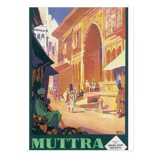 Muttra Krishnaの寺院 ポストカード