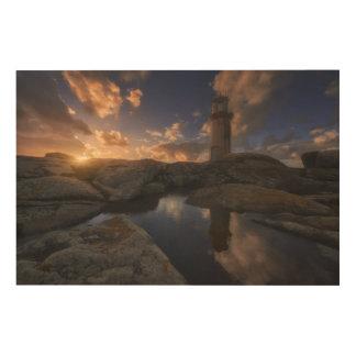 Muxiaの灯台|ガリチア、スペイン ウッドウォールアート