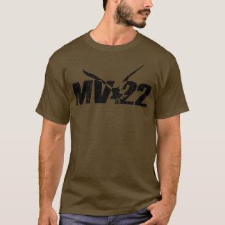 MV-22暗いワイシャツ-割れたプリント Tシャツ