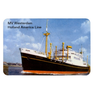 MV Westerdamのオランダアメリカライン マグネット