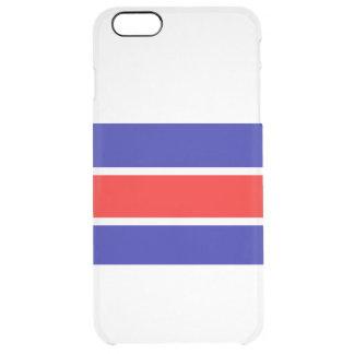 MVBの赤く白い青iphone 6/6s™のディフレクターの箱 クリア iPhone 6 Plusケース