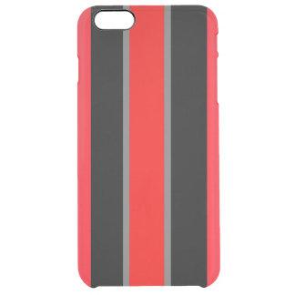 MVB赤いBlkの灰色のiphone 6/6s™のディフレクターの箱 クリア iPhone 6 Plusケース