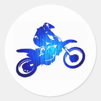 MXの青いビート ラウンドシール