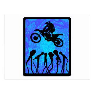 MXの青のバイザー ポストカード