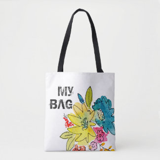 My Bag sign with summer flowers トートバッグ