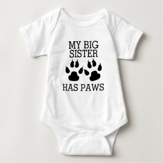 My Big Sister Has Paws ベビーボディスーツ