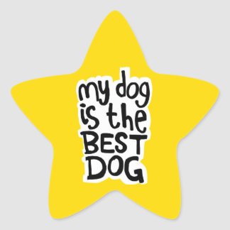 My Dog Is The Best Dog stickers 星シール
